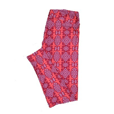LuLaRoe Tall Curvy ( TC ) Valentines Cupids Arrows Geometric Red Pink Hearts Hearts Leggings fits Adult sizes 12-18