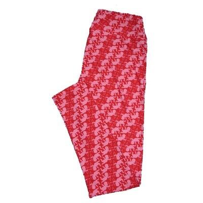 LuLaRoe One Size OS Valentines Cupid Arrow Geometric Stripe Hearts Leggings fits Adult sizes 2-10
