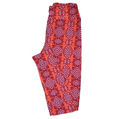LuLaRoe One Size OS Valentines Red Pink Cupids Arrows Geometric Hearts Leggings fits Adult sizes 2-10