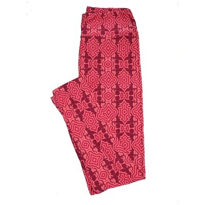 LuLaRoe One Size OS Valentines Cupids Arrows Pink Red Geometric Hearts Leggings fits Adult sizes 2-10