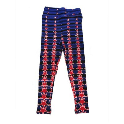 LuLaRoe Kids Small-Medium Americana Stars Leggings ( S/M fits kids 2-8 ) SM-1006-K