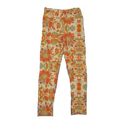 LuLaRoe Kids Small-Medium Floral Geometric Leggings ( S/M fits kids 2-8 ) SM-1006-D