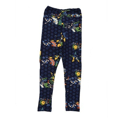 LuLaRoe Kids Small-Medium Floral Geometric Polka Dot Leggings ( S/M fits kids 2-8 ) SM-1007-C