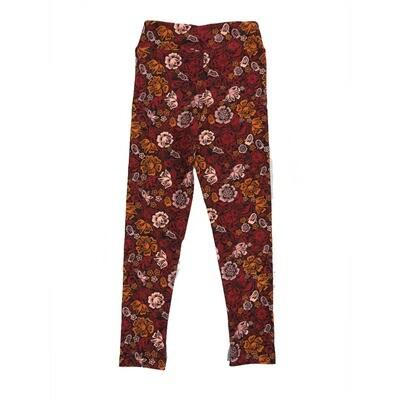 LuLaRoe Kids Small-Medium Floral Leggings ( S/M fits kids 2-8 ) SM-1001-G
