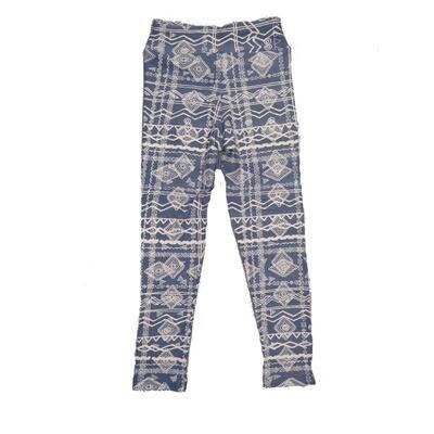 LuLaRoe Kids Small-Medium Geometric Stripe Leggings ( S/M fits kids 2-8 ) SM-1008-D