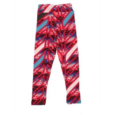 LuLaRoe Kids Small-Medium Geometric Stripe Leggings ( S/M fits kids 2-6 ) SM-1008-E