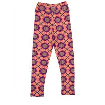 LuLaRoe Kids Small-Medium Geometric Stripe Polka Dot Leggings ( S/M fits kids 2-8 ) SM-1007-A