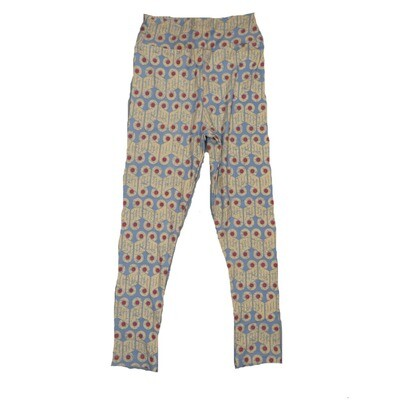 LuLaRoe Kids Small-Medium Geometric Zig Zag Stripe Leggings ( S/M fits kids 2-8 ) SM-1008-J