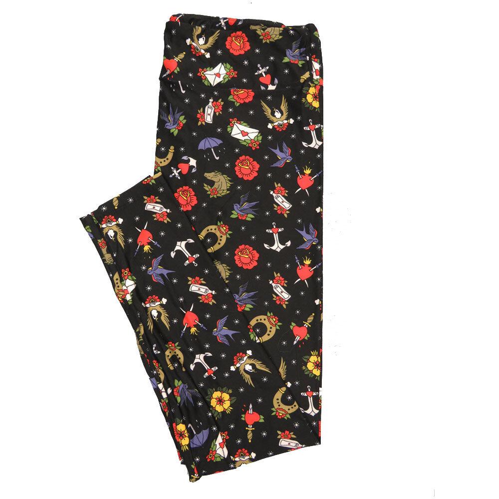 LuLaRoe TC2 Floral Leggings (TC2 fits sizes 18+) 9001-Z