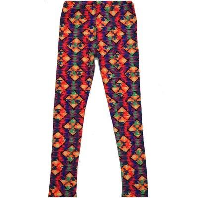LuLaRoe Kids Large-XL Multicolor Geometric Stripe Leggings ( L/XL fits kids 8-14) LXL-2004-W