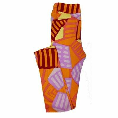 Kids Large-XL (LXL) LuLaRoe Leggings Floral Geometric fits sizes 8-14