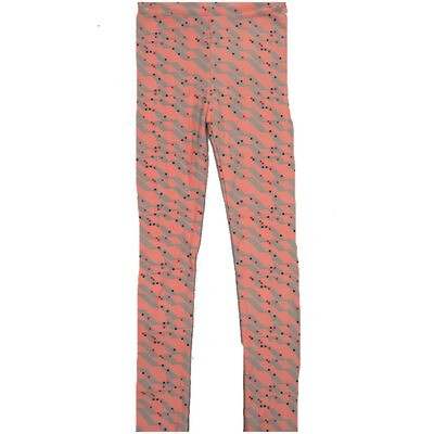 LuLaRoe Kids Large-XL Pink Gray Black Polka Dot Leggings ( L/XL fits kids 8-14) LXL-2005-G2