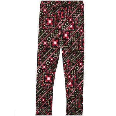LuLaRoe Kids Large-XL Geometric Black Whtie Gray Diagonal Stripe Leggings ( L/XL fits kids 8-14) LXL-2004-H