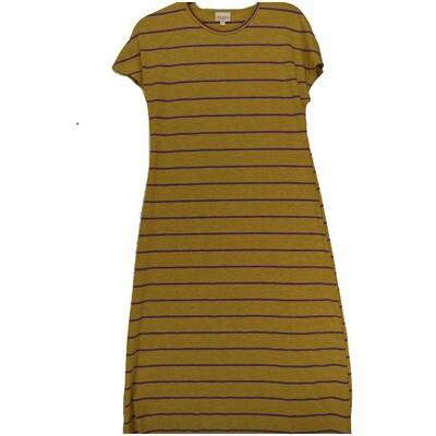 LuLaRoe Maria Small S Gray Orange Purple Stripe Maxi Dress fits sizes 6-8