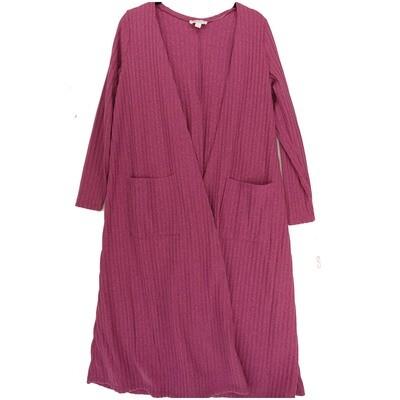 LuLaRoe SARAH Small S Ribbed Solid Fucshia Cardigan fits Womens sizes 6-8