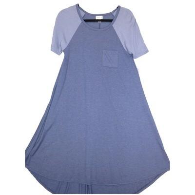 LuLaRoe CARLY XX-Small XXS Solid Periwinkle Swing Dress fits Women 00-0