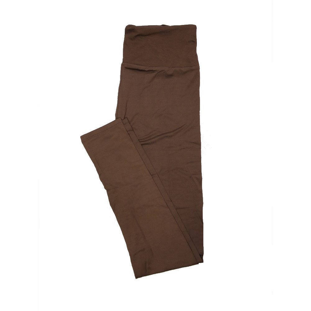 LuLaRoe One Size OS Solid Chocolate Brown (257506) Womens Leggings fits Adult sizes 2-10