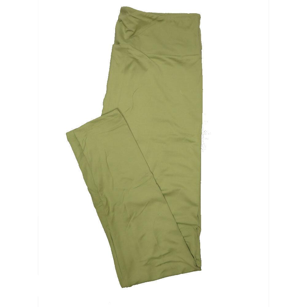 LuLaRoe One Size OS Solid Light Khaki (385-49064) Womens Leggings fits Adult sizes 2-10