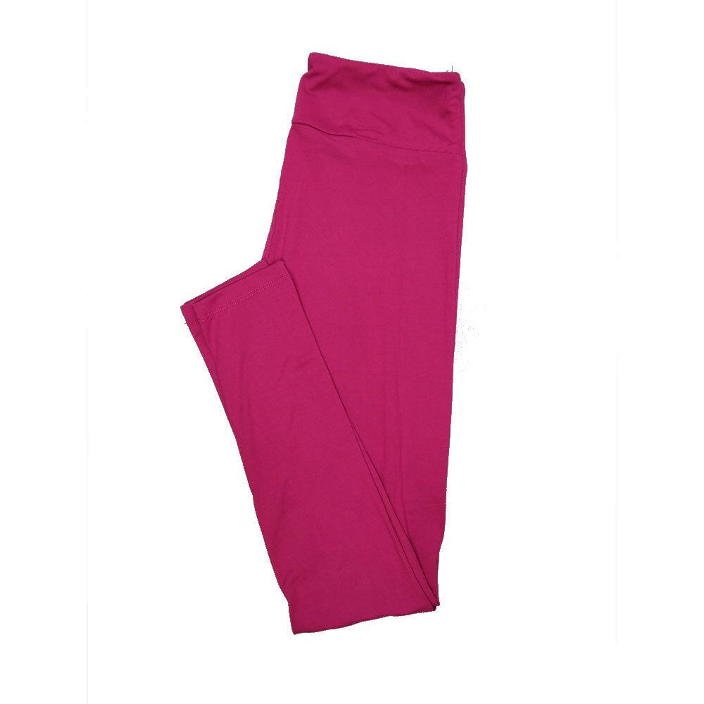 LuLaRoe One Size OS Solid Magenta Womens Leggings fits Adult sizes 2-10