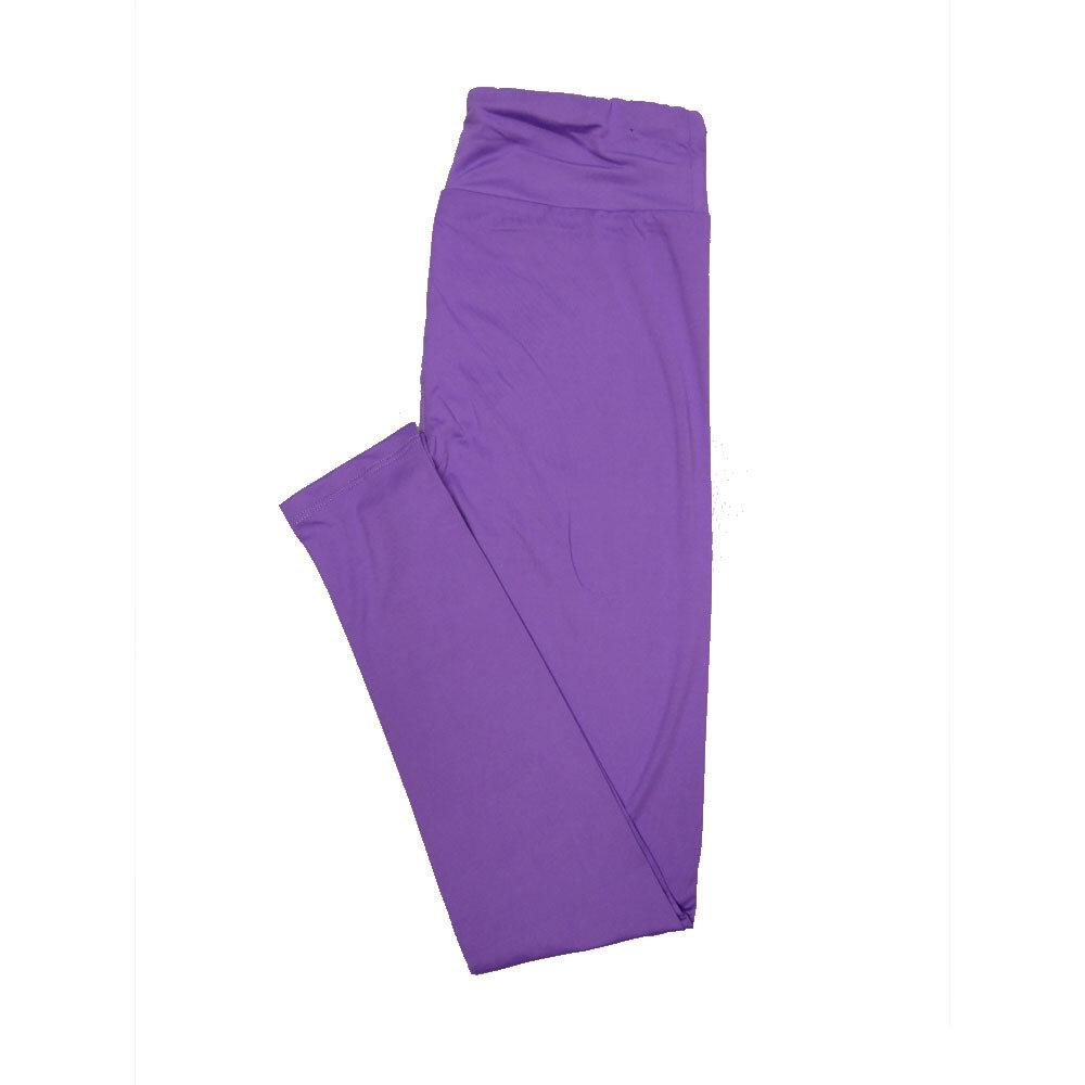 LuLaRoe One Size OS Solid Purple (257528) Womens Leggings fits Adult sizes 2-10