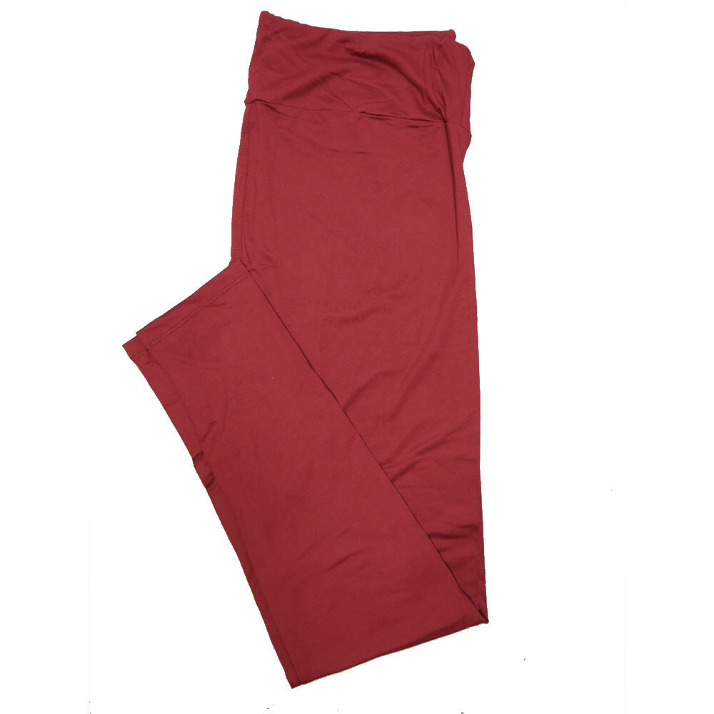 LuLaRoe One Size OS Solid Roan Rouge (181616) Womens Leggings fits Adult sizes 2-10