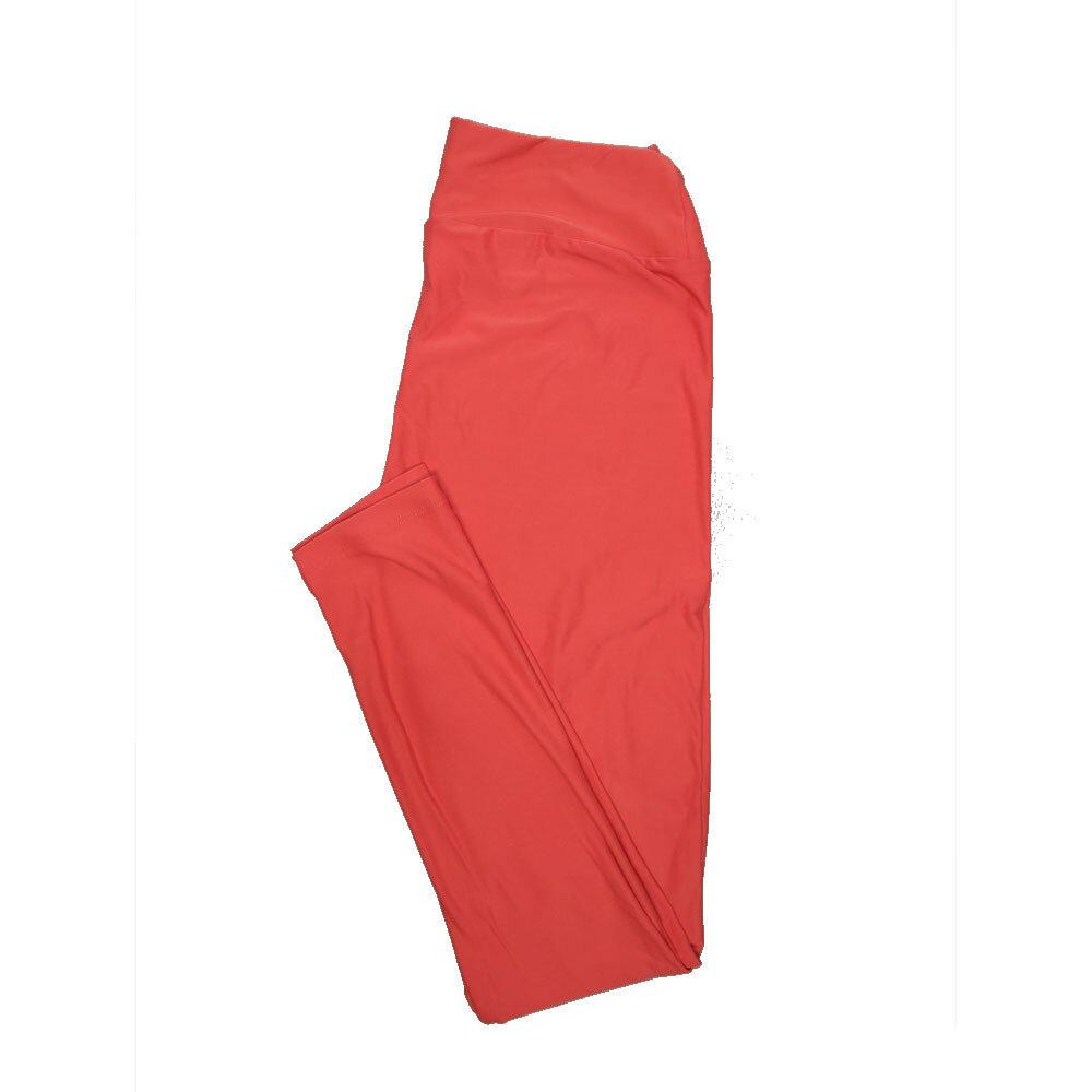 LuLaRoe One Size OS Solid Salmon Womens Leggings fits Adult sizes 2-10