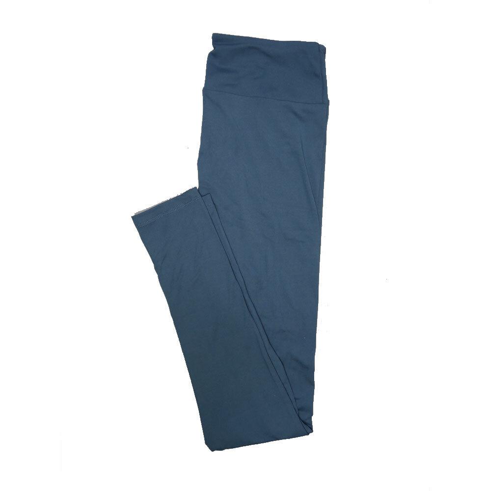 LuLaRoe One Size OS Solid Slate Blue (184018) Womens Leggings fits Adult sizes 2-10