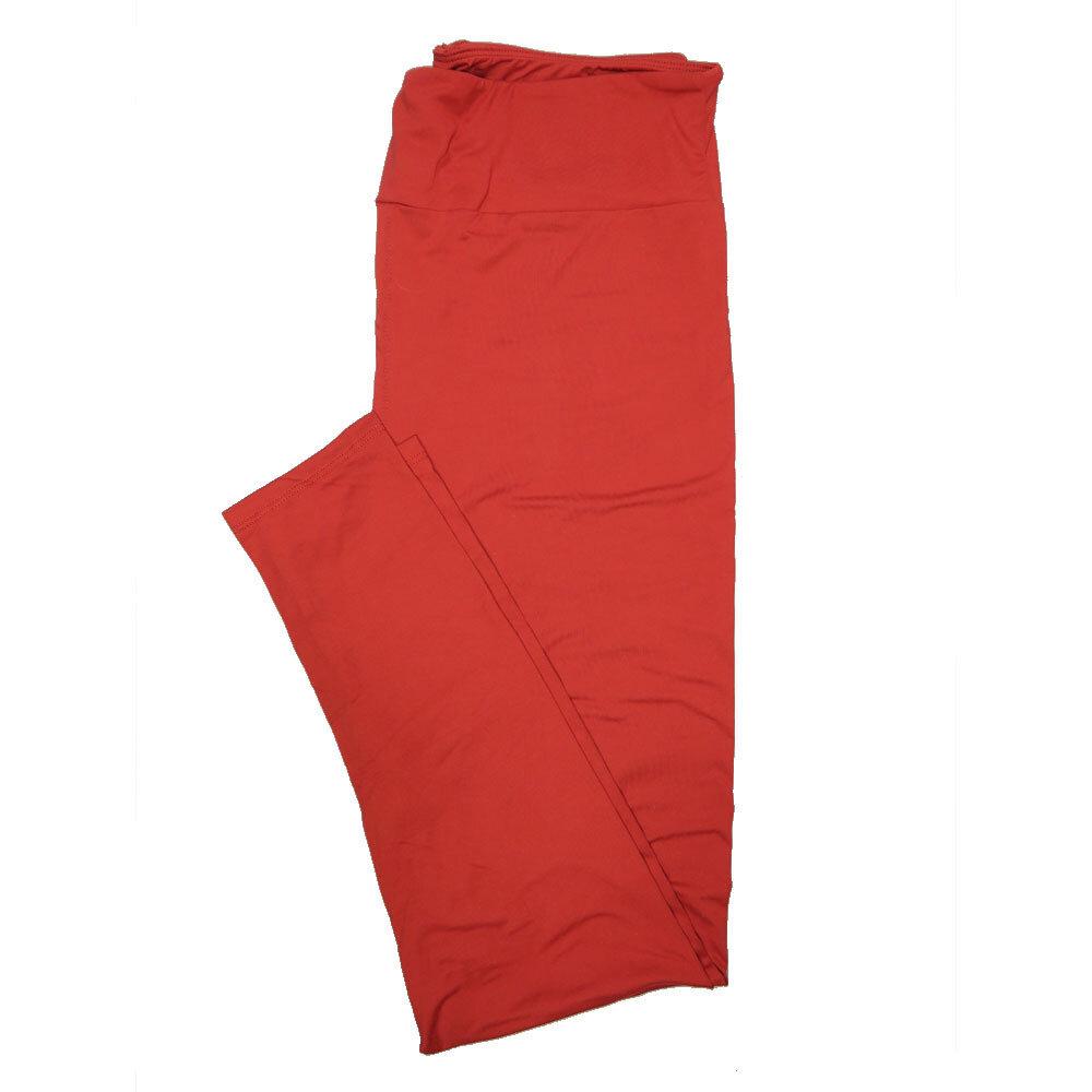 LuLaRoe Tall Curvy TC Solid Brick Red (257512) Womens Leggings fits Adult sizes 12-18