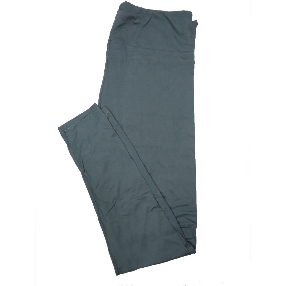 LuLaRoe One Size OS Solid Dark Gray Blue (257487) Womens Leggings fits Adult sizes 2-10