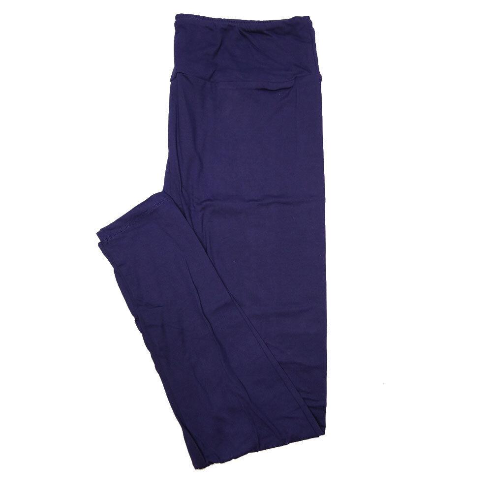 LuLaRoe Tall Curvy TC Solid Dark Purple (410-49784) Womens Leggings fits Adult sizes 12-18