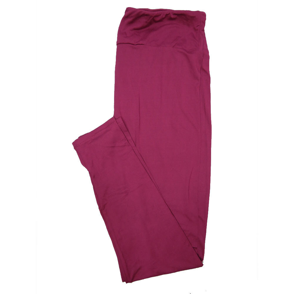 LuLaRoe Tall Curvy TC Solid Dark Violet (192524) Womens Leggings fits Adult sizes 12-18
