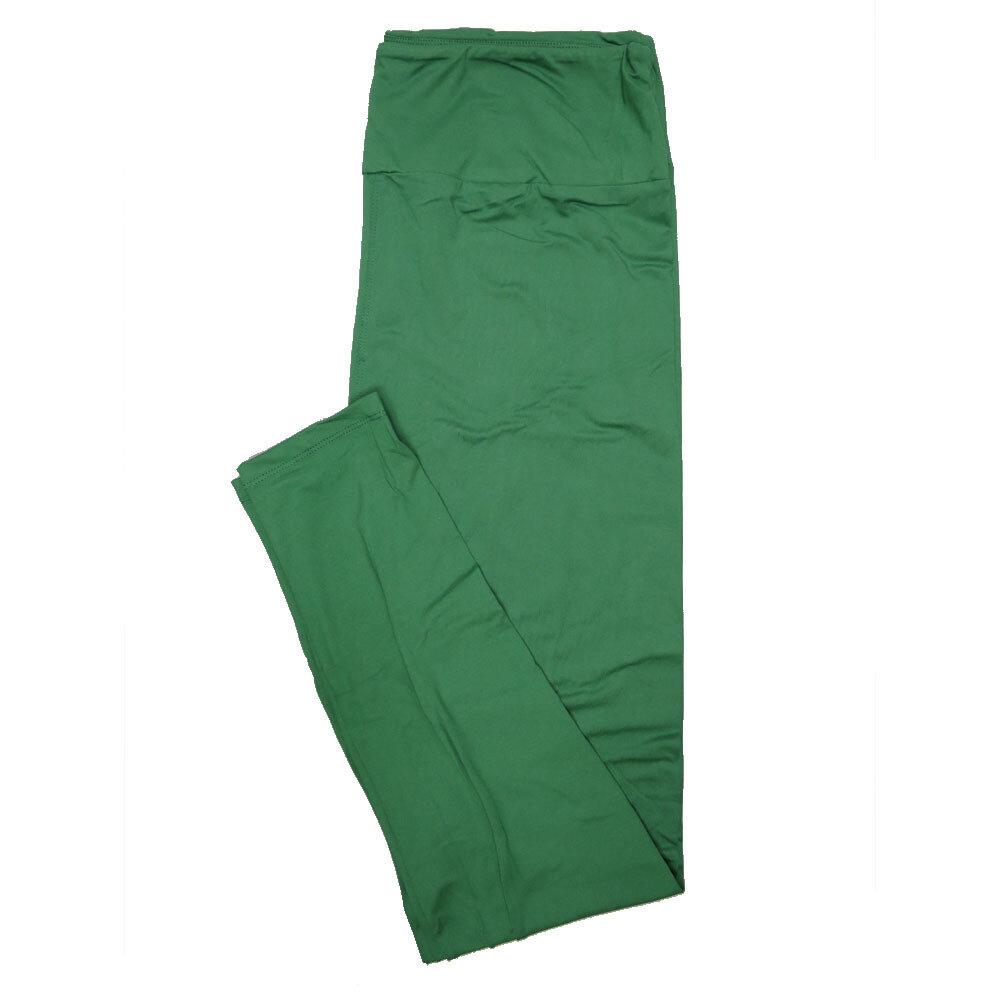 LuLaRoe Tall Curvy TC Solid Green (196026) Womens Leggings fits Adult sizes 12-18