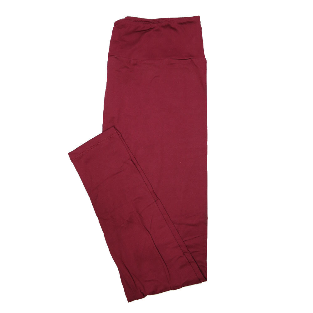LuLaRoe Tall Curvy TC Solid Maroon (410-49788) Womens Leggings fits Adult sizes 12-18