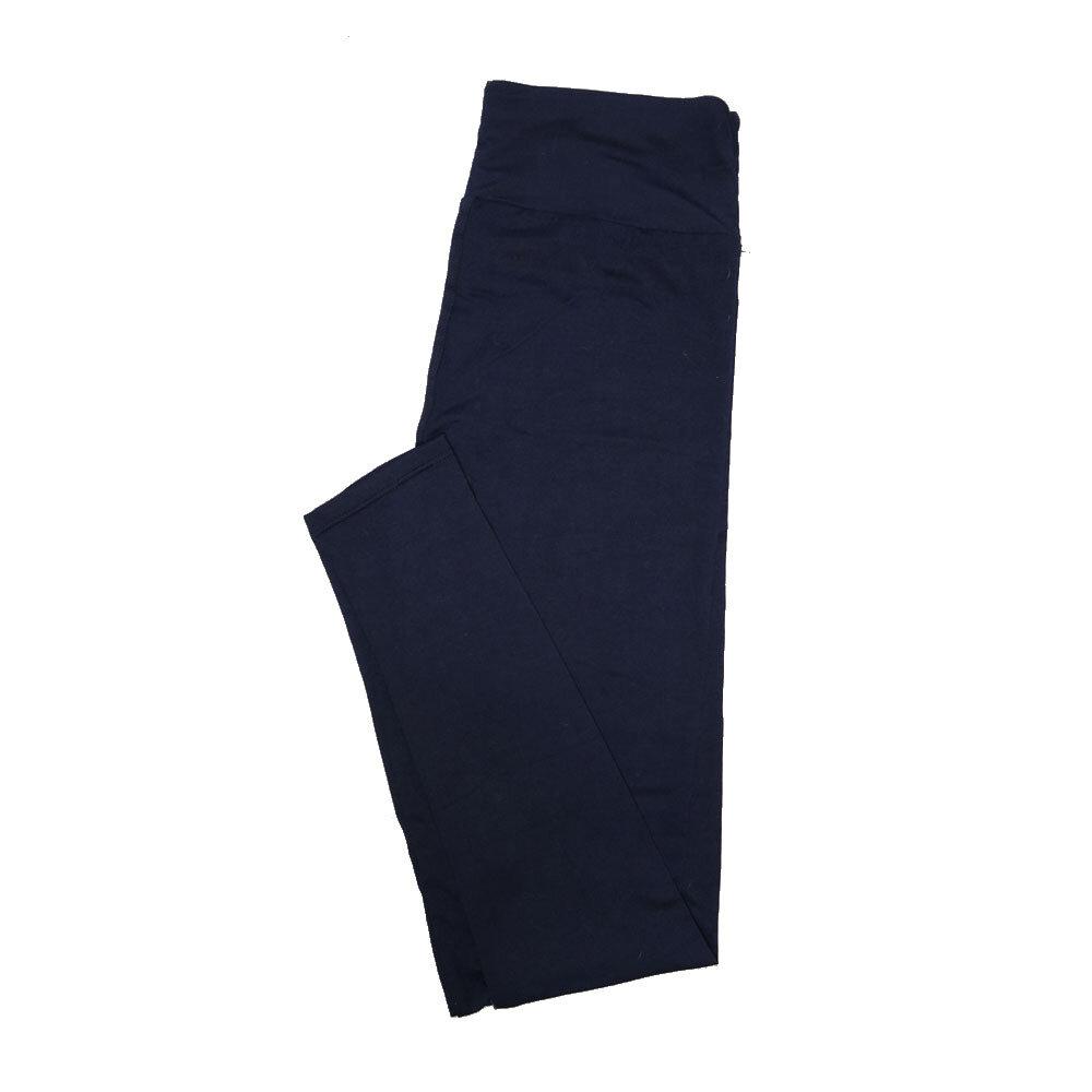 LuLaRoe Tall Curvy TC Solid Navy (193921) Womens Leggings fits Adult sizes 12-18