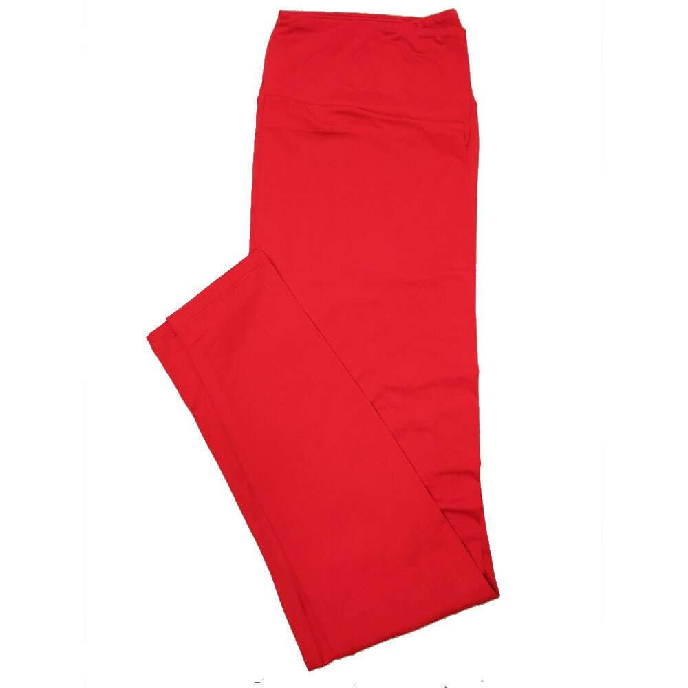 LuLaRoe Tall Curvy TC Solid Salsa Red (181657) Womens Leggings fits Adult sizes 12-18