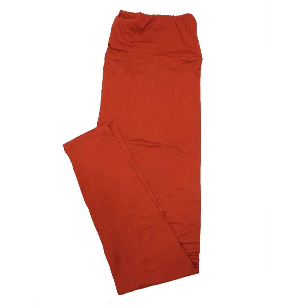 LuLaRoe Tall Curvy TC Solid Sierra Red Womens Leggings fits Adult sizes 12-18