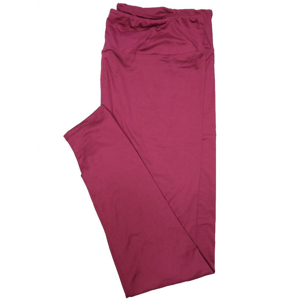 LuLaRoe TC2 Solids Plum (564046) Leggings (Tall Curvy 2 fits Sizes 18+)