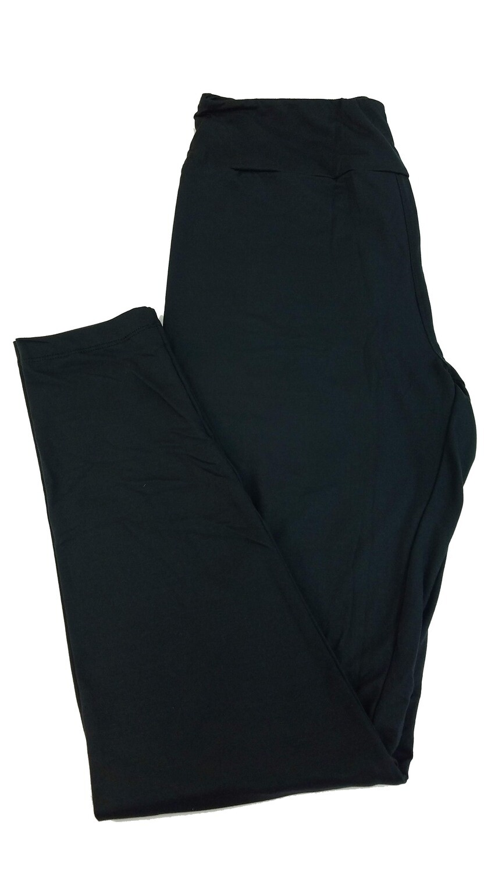 LuLaRoe One Size OS Solid Jet Black (190303) Womens Leggings fits Adult sizes 2-10