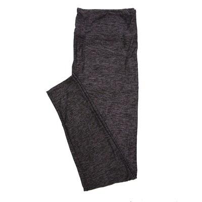 LuLaRoe Tall Curvy TC Solid Heathered Black with Purple (410-49795) Womens Leggings fits Adult sizes 12-18