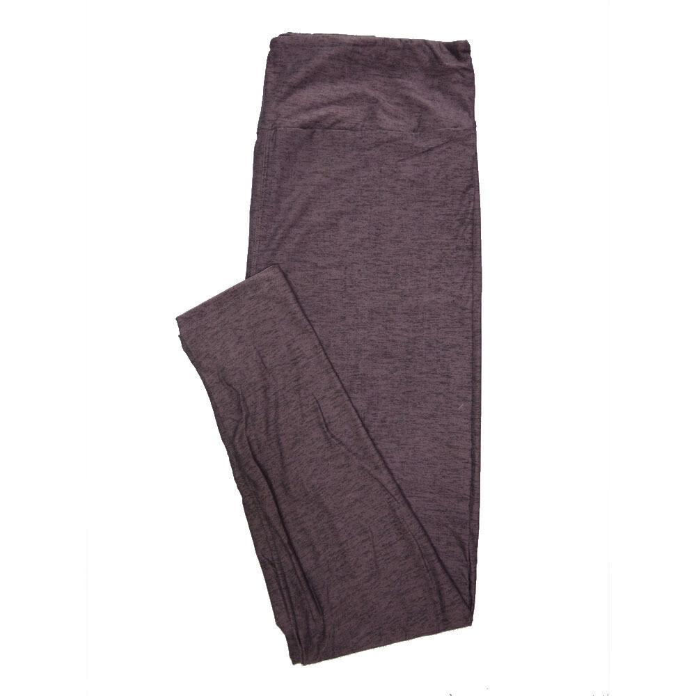 LuLaRoe Tall Curvy TC Solid Heathered Purple with Black (410-79794) Womens Leggings fits Adult sizes 12-18