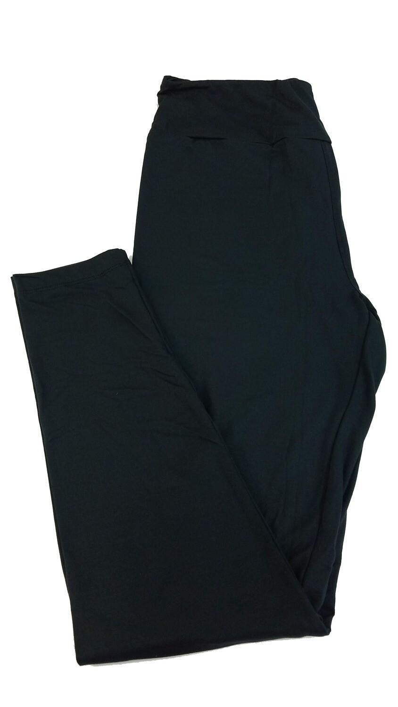 LuLaRoe Tall Curvy TC Solid Jet Black (190303) Womens Leggings fits Adult sizes 12-18