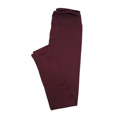 LuLaRoe One Size OS Solid Potent Dark Purple (192520) Womens Leggings fits Adult sizes 2-10