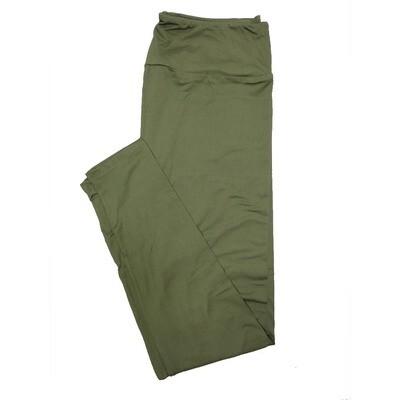 LuLaRoe Tall Curvy TC Solid Green Army (568864) Womens Leggings fits Adult sizes 12-18