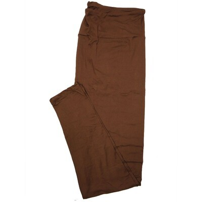 LuLaRoe Tall Curvy TC Solid Coffee (410-49783) Womens Leggings fits Adult sizes 12-18