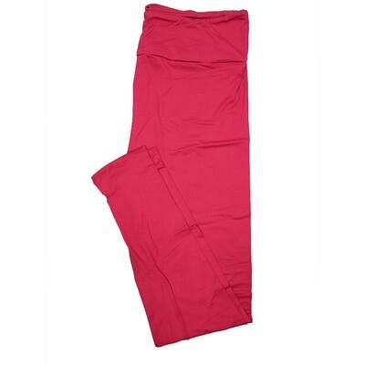 LuLaRoe One Size OS Solid Fucshia (410-49789) Womens Leggings fits Adult sizes 2-10