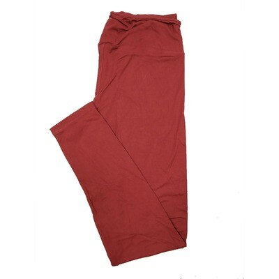 LuLaRoe One Size OS Solid Oxblood Red (191524) Womens Leggings fits Adult sizes 2-10
