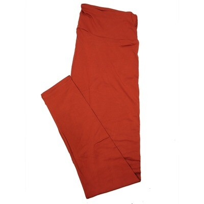 LuLaRoe Tall Curvy TC Solid Picante Red (191250) Womens Leggings fits Adult sizes 12-18