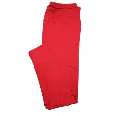 LuLaRoe Tall Curvy TC Solid Red (410-49071) Womens Leggings fits Adult sizes 12-18