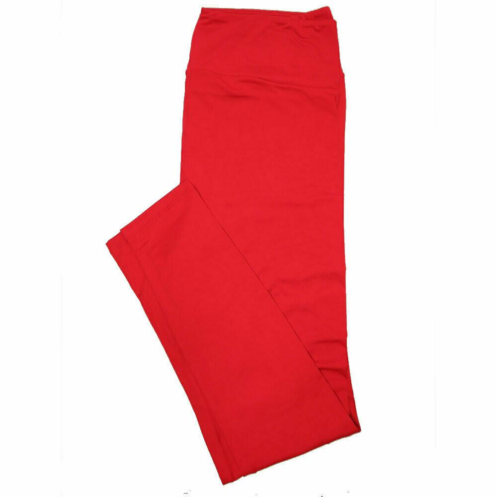 LuLaRoe TC2 Solids Salsa Red (181657) Leggings (Tall Curvy 2 fits Sizes 18+)