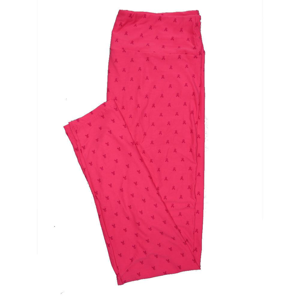 LuLaRoe Tall Curvy TC Leggings Breast Cancer Awareness Pink Robbon Polka Dot (TC fits 12-18) TC-7017-P